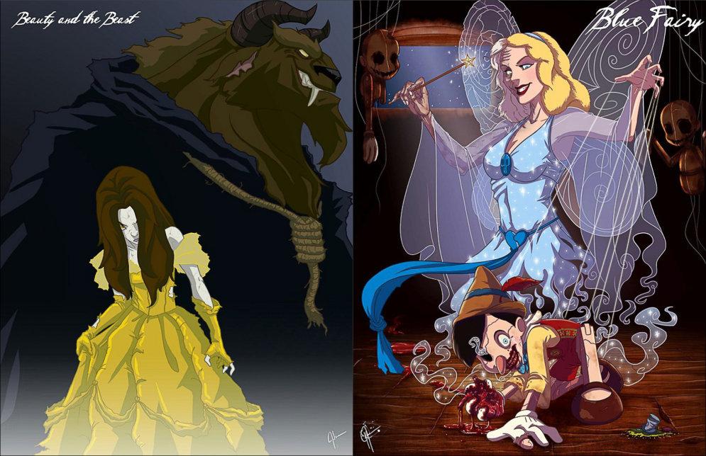 РИСУНКИ. 14 принцесс Диснея, соблазнившихся печеньками и перешедших на темную сторону