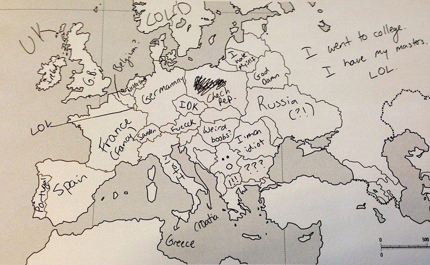 Ko amerikāņi dara, kad viņiem tukšā kartē jāiezīmē Latvija