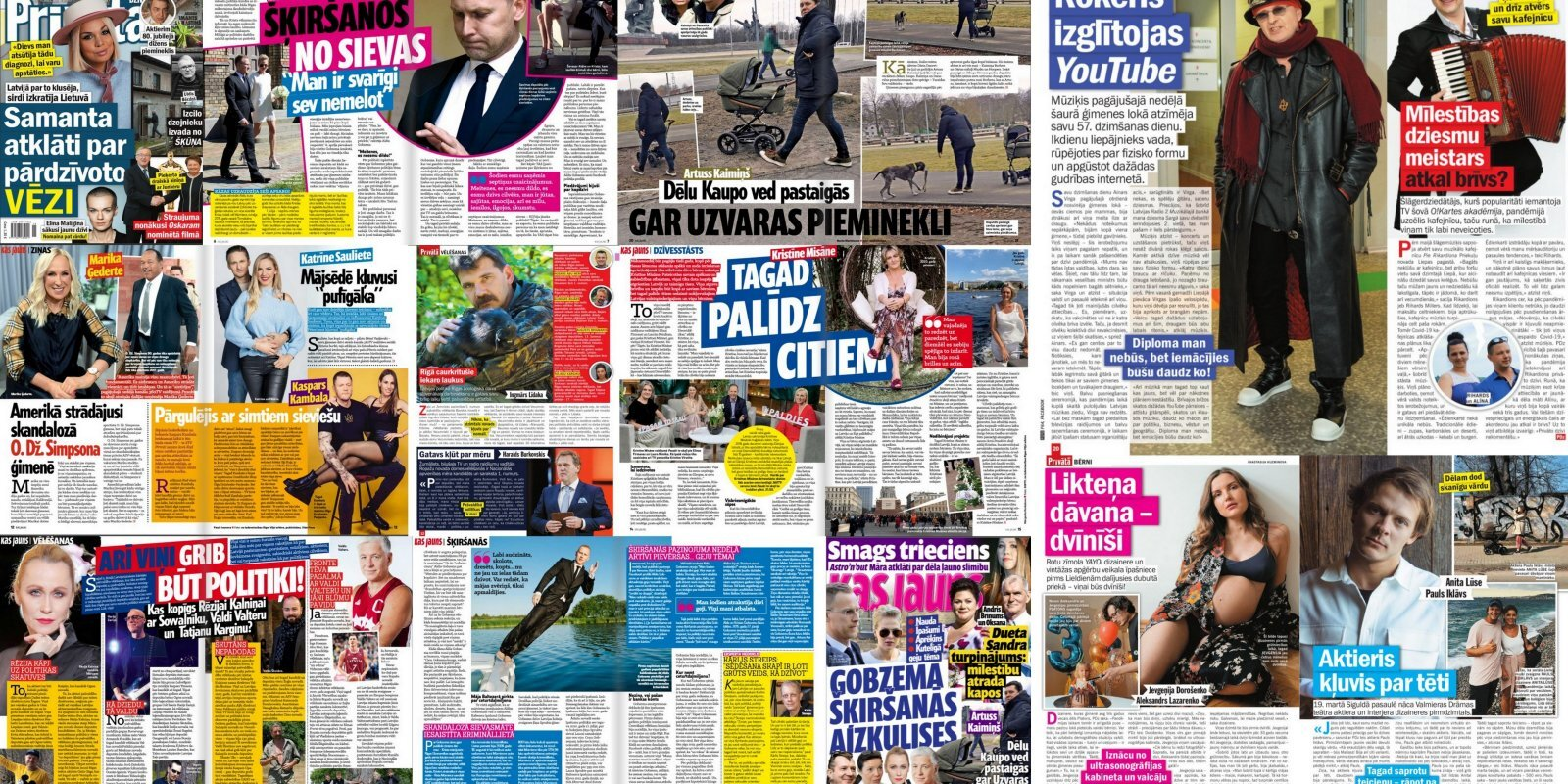 Гобземс и геи, зачем вдова Малыгина сменила имя, Саманта Тина скрывала рак: о чем пишут латышские таблоиды