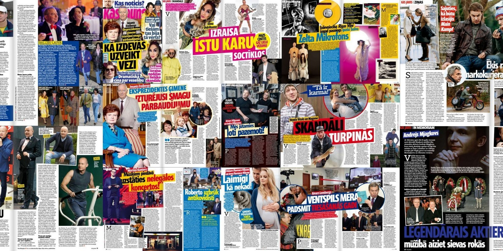 Муж Вике-Фрейберги победил рак, вечеринки Лембергса и личный кризис владельца Lido: о чем пишут латышские таблоиды
