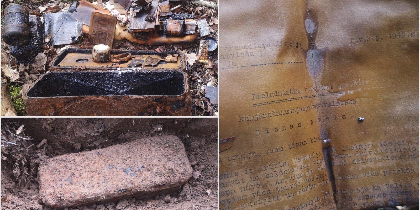 Kurzemes mežos negaidīti atrod 2. pasaules kara beigu dokumentus