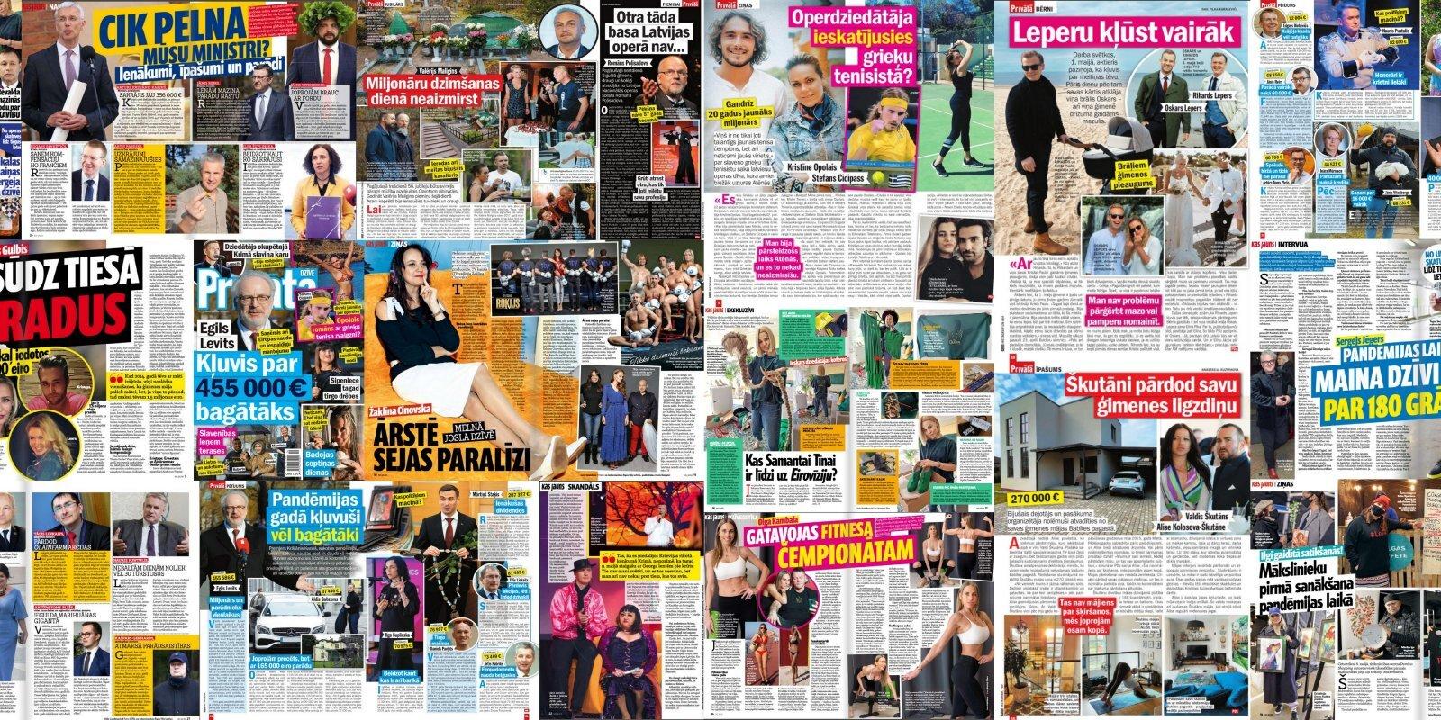 Насколько латвийские политики разбогатели за время пандемии: о чем пишут латышские таблоиды