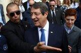 Kipras apvienošanas solītāju Anastasiadu pārvēl otrā prezidentūras termiņā