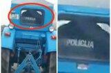 Video: Valmierā policists formastērpā brauc ar traktoru