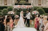 Krāšņi foto: Simonas Kubasovas un Radža sapņu kāzas