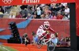 Visi trīs Latvijas BMX riteņbraucēji iekļūst pusfinālā (18:50)