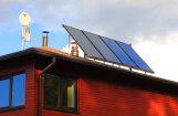 Ūdens sildīšanai arvien biežāk izmanto saules kolektoru sistēmas