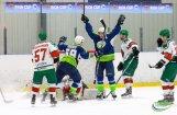 Favorīti 'Mogo' un 'Kurbads' uzvar pirmajās Latvijas hokeja čempionāta pusfināla spēlēs