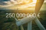 Investējot 250 miljonus eiro, būvēs Latvijā lielāko vēja elektrostaciju parku
