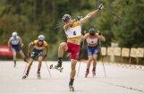 Latvijas sportistiem godalgotas pozīcijas PK posmā rollerslēpošanā Madonā