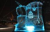 ФОТО: В Елгаве открылся Международный фестиваль ледовых скульптур
