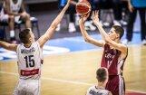 Latvijas U-16 basketbolisti Eiropas čempionāta mačā zaudē Serbijai