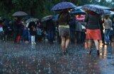 Pirmdien daudzviet līs