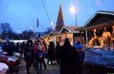 ФОТО, ВИДЕО: В Резекне зажгли новогоднюю елку и открыли рождественский базарчик