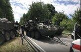 Mācību intensitātes dēļ Lietuvā notikušas jau trīs NATO transportlīdzekļu avārijas