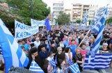 Foto: Tūkstošiem grieķu pulcējas, lai pieprasītu valdībai stingru nostāju par Maķedonijas nosaukumu