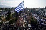 Foto: Tūkstošiem grieķu Atēnās protestē pret Maķedonijas nosaukšanu par Maķedoniju