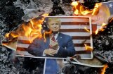 Tramps vēl nepiemēro Irānai sankcijas; aicina Eiropai izlabot kodolvienošanās 'trūkumus'