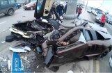 Video: Maskavā servisa darbinieki traģiski avarējuši ar klienta 'Lamborghini'