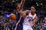 'Raptors' basketbolisti pirmo reizi vēsturē uzvar 'play–off' pirmajā mačā