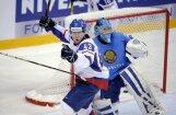 Slovākijas hokejisti izmoka uzvaru pār Kazahstānu