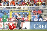 Vācijas futbolisti ielaiž piecus vārtus spēlē pret Šveici