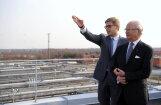 Король Швеции и Ушаков посетили станцию биологической очистки