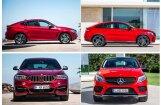 Salīdzini pats: 'BMW X6' un 'Mercedes-Benz GLE Coupe'