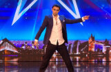 Britu šovā pēc slavas raujas dejotājs Vladimirs no Latvijas