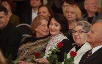 Foto: Godina 'Spēlmaņu nakts' nominantus un Latvijas Teātra Zelta fonda dalībniekus