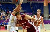 Latvijas basketbolisti atspēlējas un sagādā Krievijai pirmo zaudējumu