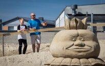 Foto: Smilšu skulptūru festivāls Jelgavā pulcē tūkstošiem interesentu