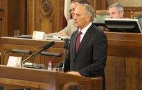 Prezidents Bērziņš jaunajai Saeimai: nav laika spēlēt spēlītes, ir jādara darbs