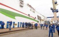 Nokristīts jaunais 'Tallink' prāmis, kas kursēs starp Tallinu un Helsinkiem