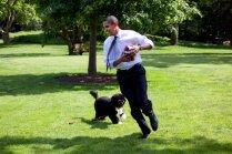 Pārmaiņas Baltajā namā – ASV atvadās no 'pirmajiem suņiem' Bo un Sanijas