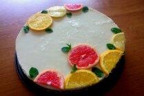 Atsvaidzinoši gardā citronu siera kūka bez cepšanas