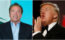 Arnolds Švarcenegers nodēvē Trampu par mazu, slapju nūdeli