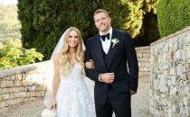Kā Toskānā precējās daiļā tenisiste Karolīna Vozņacki