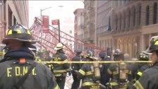 Krāna avārijas sekas Ņujorkā