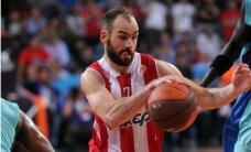 Spanulis ieved 'Olympiacos' Eirolīgas finālā; par titulu spēlēs arī Madrides 'Real'