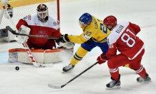 Zviedrija skandināvu duelī hokeja PČ sagrauj Dāniju