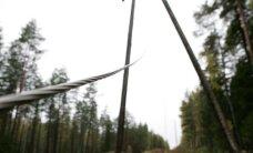 Vēja dēļ traucēta elektroapgāde pāris tūkstošiem mājsaimniecību
