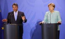 Vācijas ekonomikas ministrs kritizē Merkeli par ES un ASV brīvās tirdzniecības līgumu