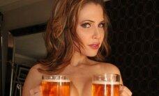 Kas notiek, kad puskailai dāmai iedod divus alus kausu
