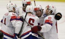 Norvēģija gūst trīs vārtus pēc kārtas pret Slovākiju un izcīna pirmo uzvaru