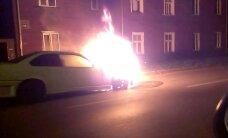 Videotops: Degošas automašīnas Rīgā (1. daļa)