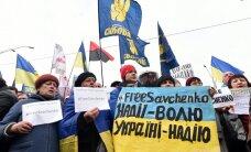 Посольство России в Киеве забросали камнями и йодом, во Львове сорвали флаг
