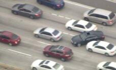 Video: Pēc dramatiskas pakaļdzīšanās ASV izveidojas milzīgs sastrēgums
