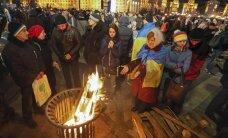 На Майдане произошли стычки между митингующими и нацгвардией