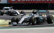 Rosbergs uzvar Brazīlijas 'Grand Prix' un nodrošina vicečempiona titulu